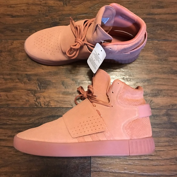 best service 5a93c 993e5 Adidas Tubular Salmon Pink High Top Strap sz 11.5. NWT